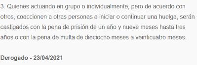 Código Penal: art. 315.3